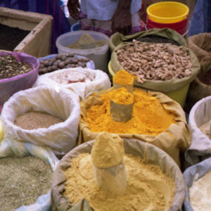 Epices sur le marché de Sanaa