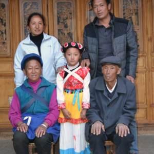 Portrait de famille naxi au village de Wumu