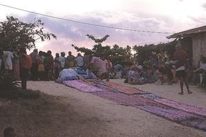 Cérémonie coutumière de deuil (extrême nord de la Nouvelle-Calédonie)
