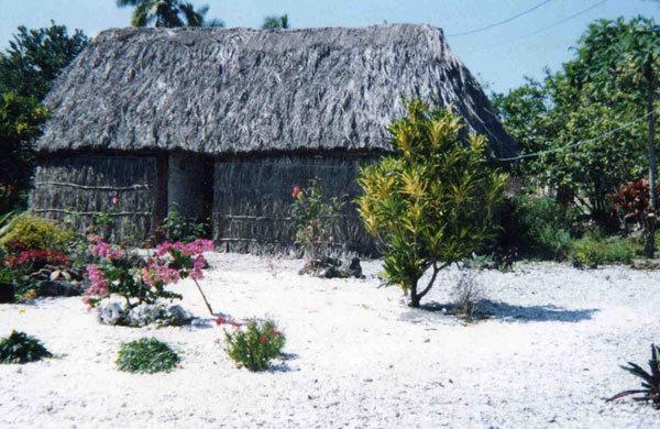 Maison traditionnelle d'Ouvéa (îles Loyauté)