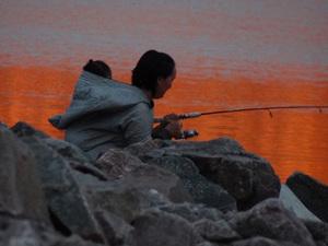 Pêche au crépuscule (Nunavut)